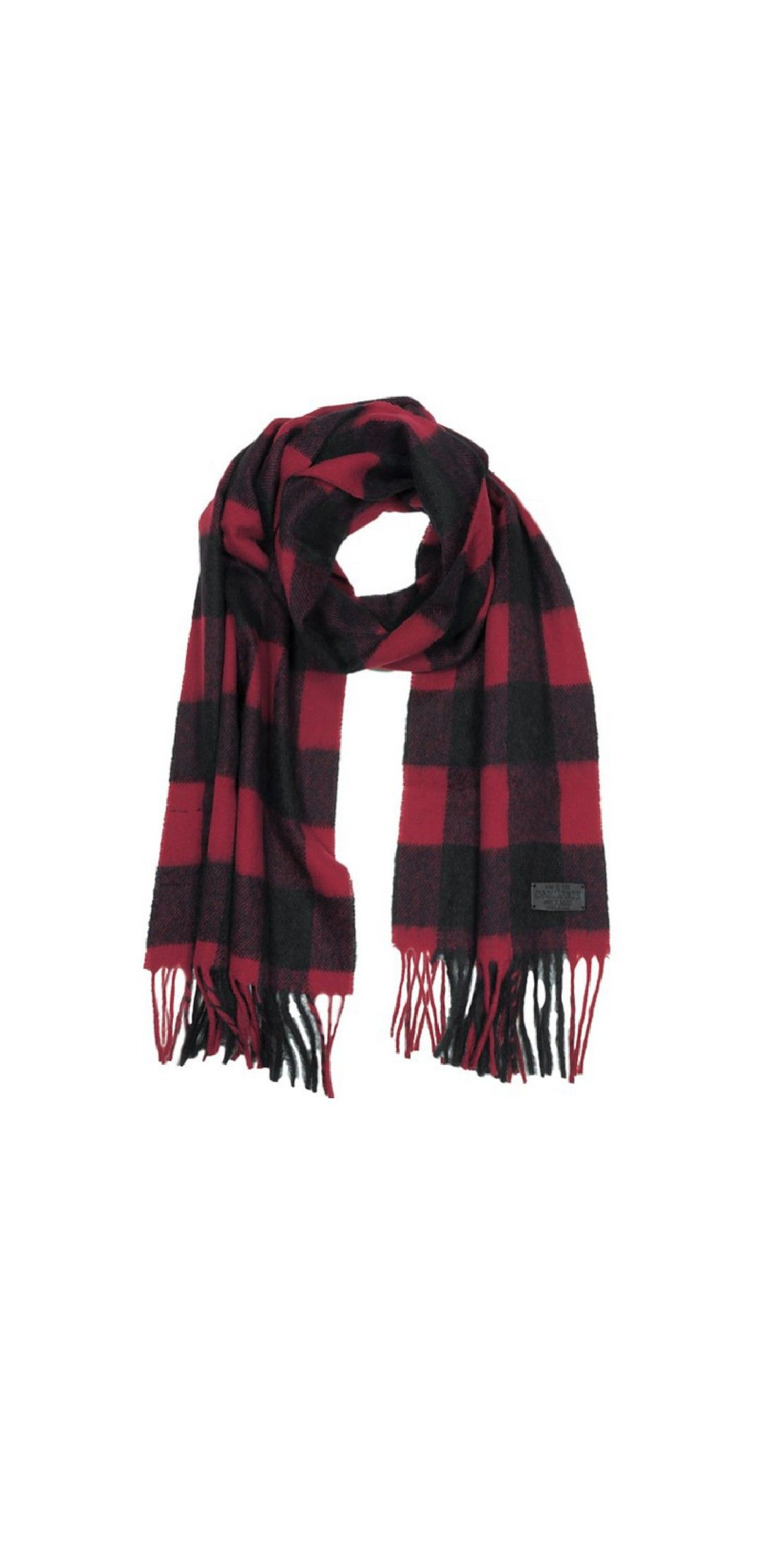 13660ad3e6 Black & Burgundy Checked Wool Blend Scarf | Autumn Inspired ...