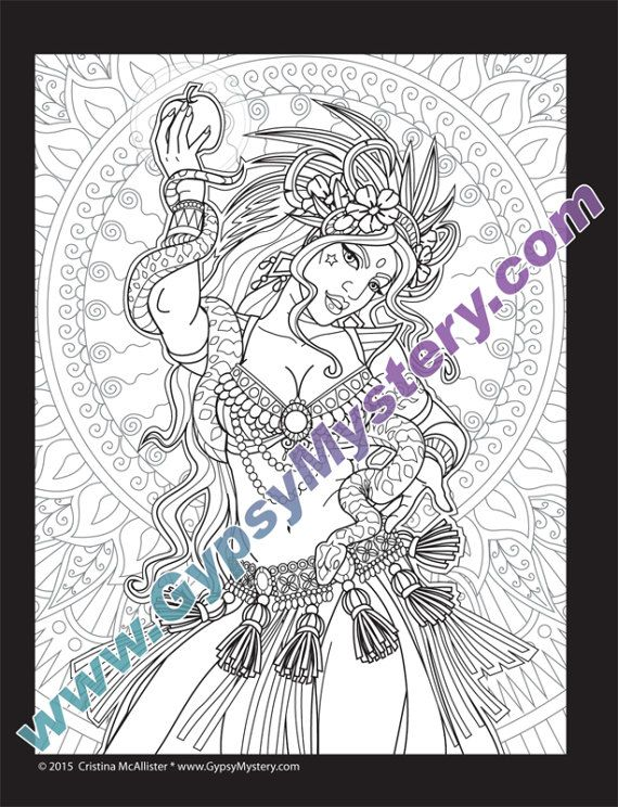 Single Coloring Page Temptation From The Magical Beauties