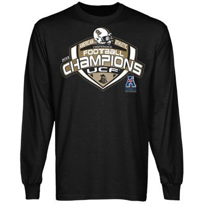 huge selection of 21efe d9ff8 UCF Knights 2013 AAC Football Champions Long Sleeve T-Shirt ...