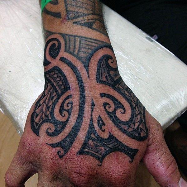 90 Samoan Tattoo Designs For Men Tribal Ink Ideas Hand Tattoos Polynesian Tattoo Tribal Hand Tattoos