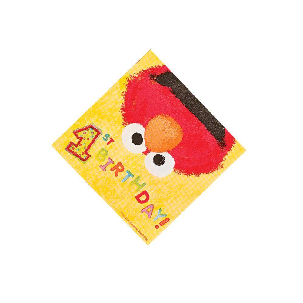 Sesame Street® Elmo's 1st Birthday Beverage Napkins