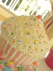 Cupcake Shaped Cake The Rainbow Of Taffies Around It Make Even Cuter