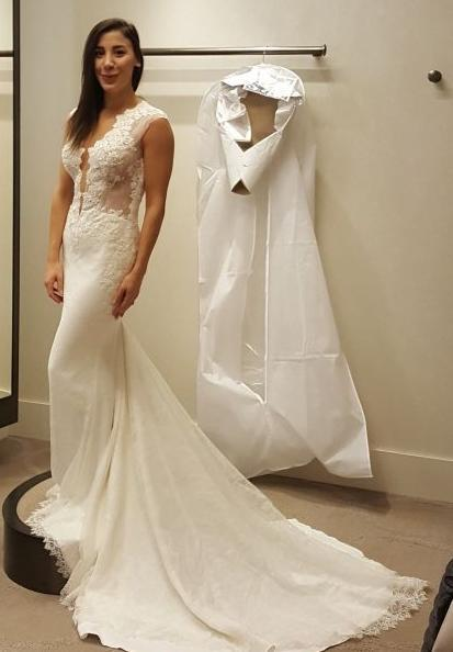 7633788496 Ines Di Santo 'Spicy' size 4 new wedding dress front view on bride ...