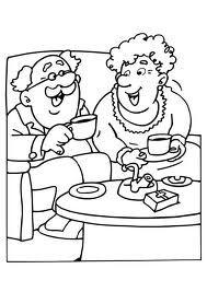 Kleurplaten Opa En Oma.Oma En Opa Kleurplaat Google Zoeken Kbw 2016 Grandma Grandpa