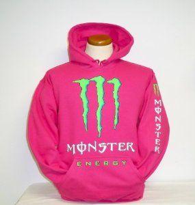 Monster Energy Hoodie Hooded Sweatshirt Adult Medium Hot Pink from Monster  energy at the Hoodies Culture 68290c744