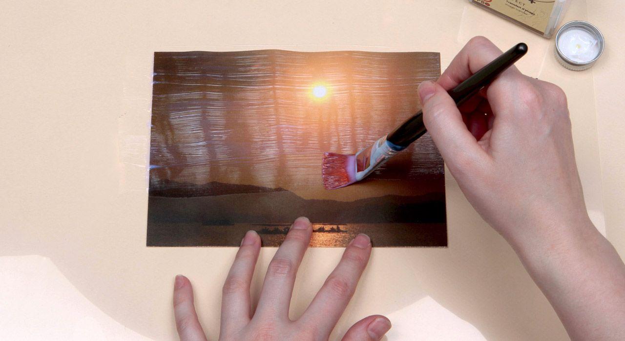Transfert Photocopie Sur Bois technique de base en vidéo : le transfert d'image à froid