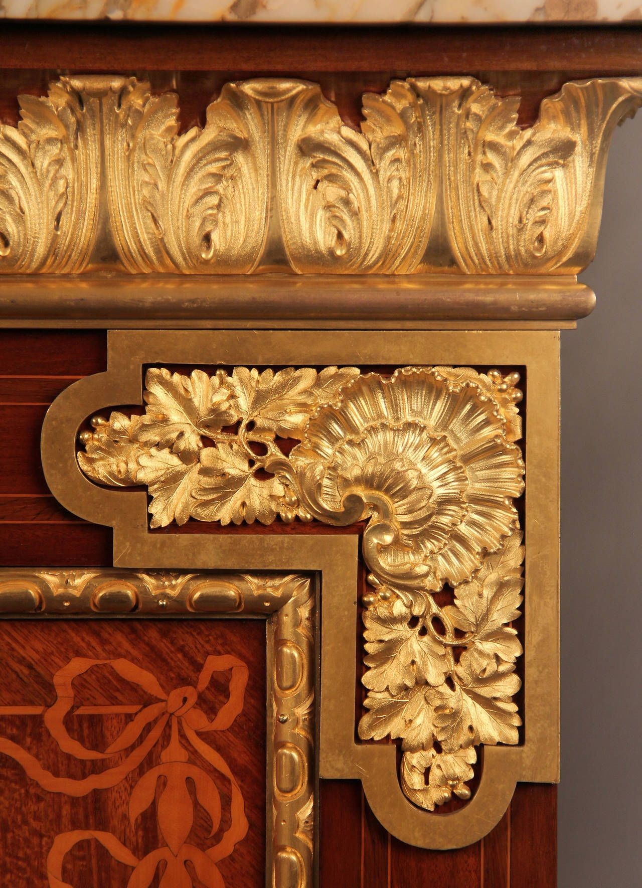 Best Rare Late 19Th Century Gilt Bronze Mounted Marquetry Cabinet 400 x 300