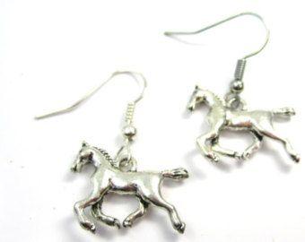 Horse Earrings Hoop Goldfilled or Sterling silver by ShowMeAgain