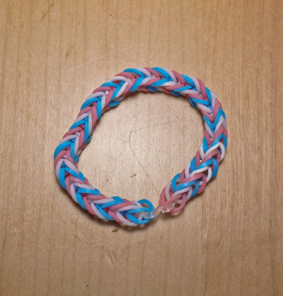 Bigender Pride Flag Loom Bracelet (Stripe) from AeronMadeThis on Etsy