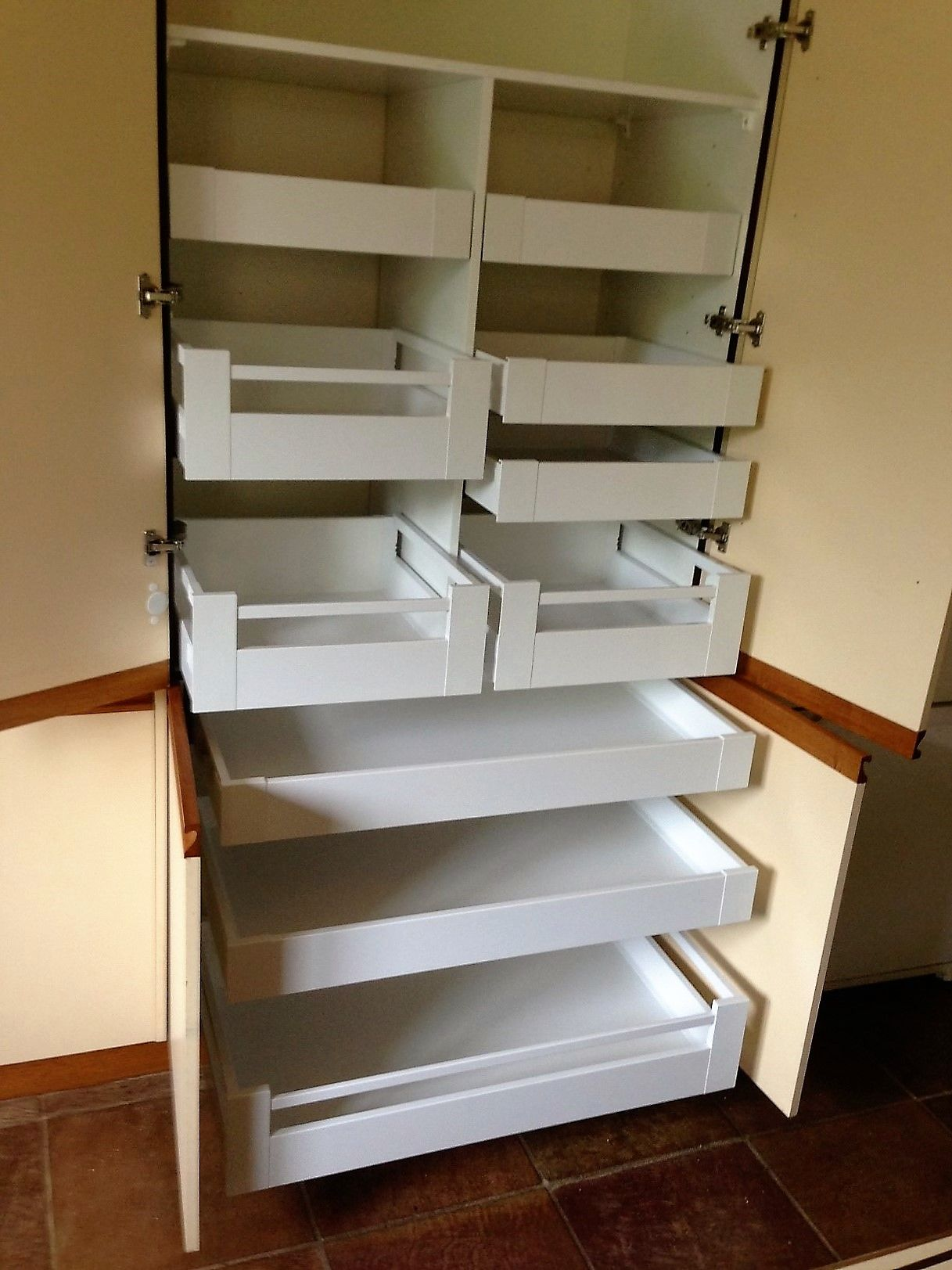 Pantry Drawer Systems By Inadrawer Custom Made To Any Size Blum Internal Drawer Systems White Kitchen Accessories Kitchen Pantry Design Home Decor Kitchen