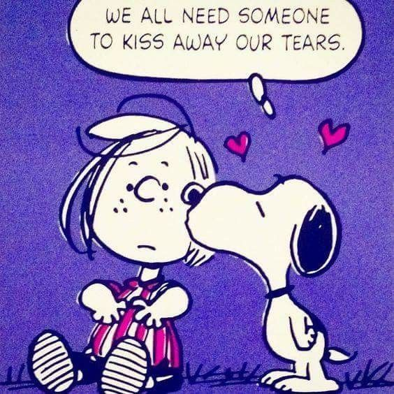 Peanuts Kiss And Makeup: We All Need Someone To Kiss Away Our Tears