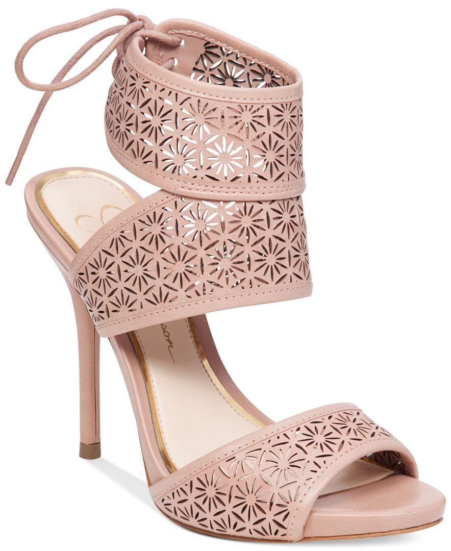Jessica Simpson Barcia Cutout-Detail Dress Sandals | Products ...