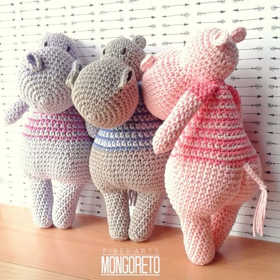 Hippo Amigurumi pattern by Mongoreto on Etsy   Amigurumis ...