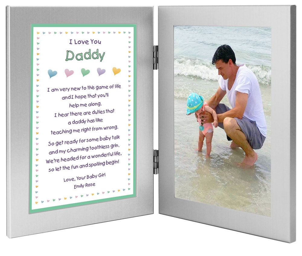 fathers day gift for new dad daddy gift from daughter with sweet poem add photo