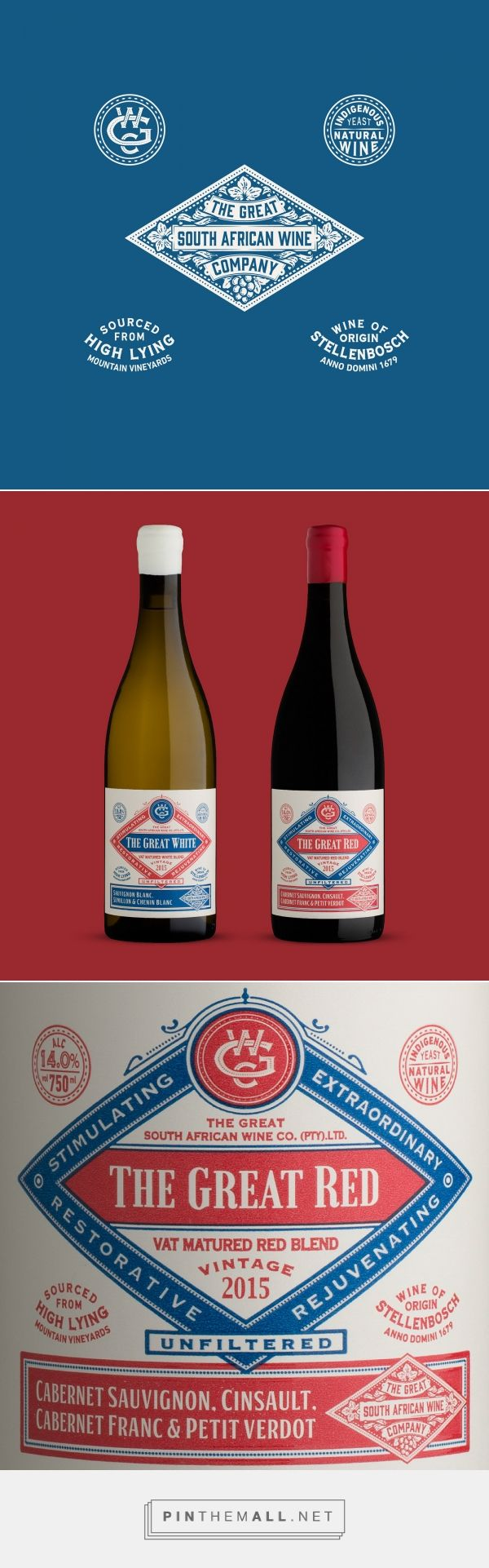 The Great South African Wine Company On Behance A Grouped Images Picture Pin Them All Wine Label Inspiration Bottle Label Design South African Wine