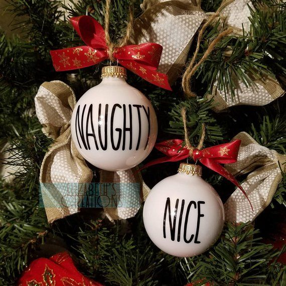 Naughty & Nice Ornaments, Funny Christmas Ornaments