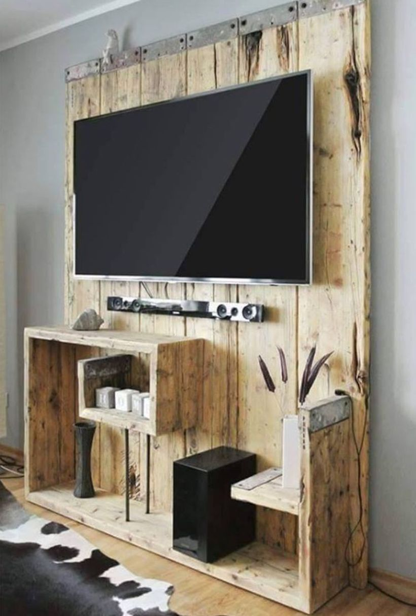 46 Rustic Tv Wall Design Ideas For Home