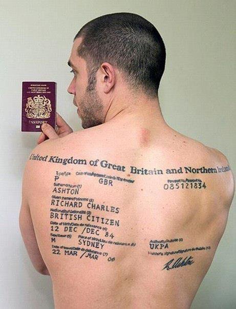 Passport 面白いタトゥー タトゥー 失敗 タトゥー