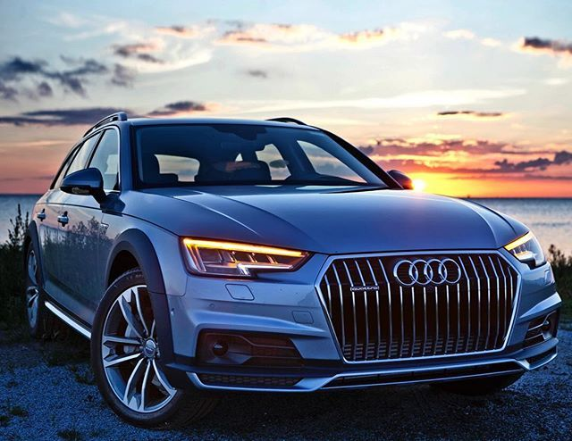 Beautiful Sunset Colors Falling In The Florett Silver Allroad Car