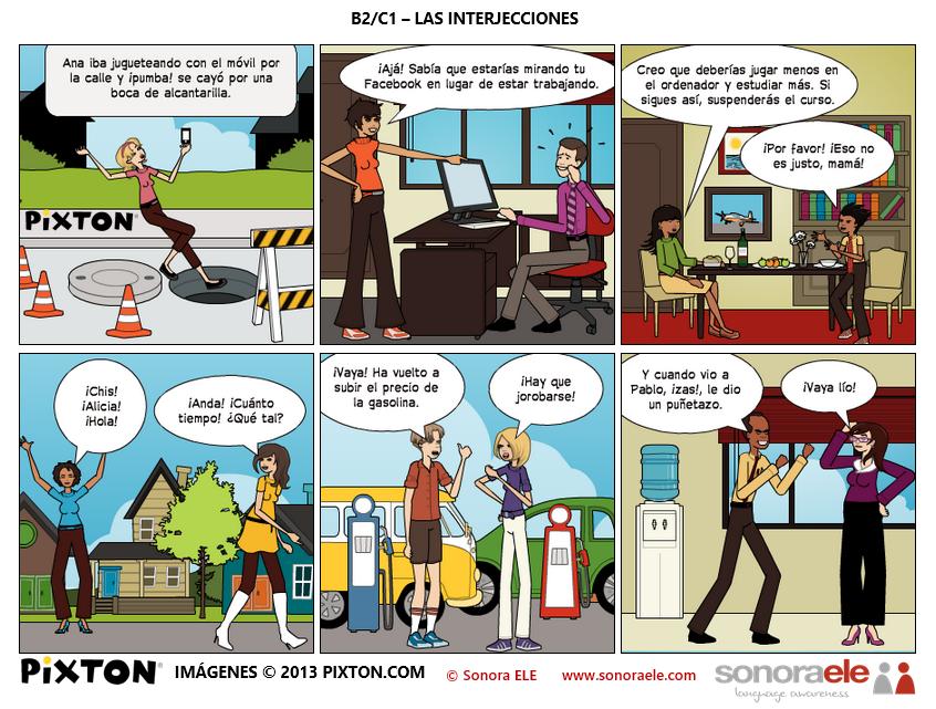 B2/C1 - Las interjecciones [De El Blog de Sonora ELE ...