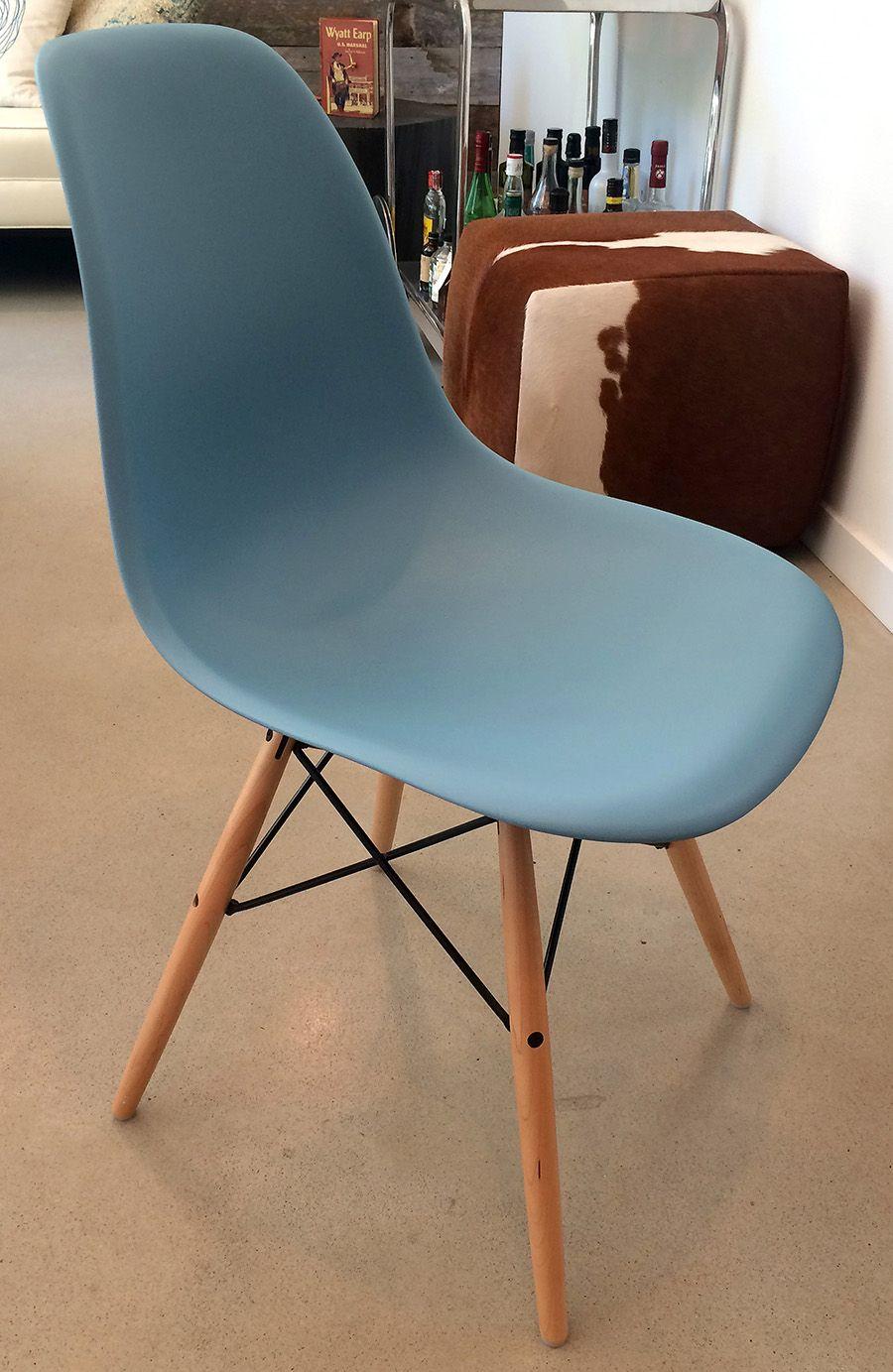 eames white chair metal legs