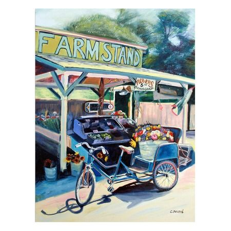 I pinned this Farmstand Bike Canvas Art from the Vintage Verve event at Joss and Main!$59.95