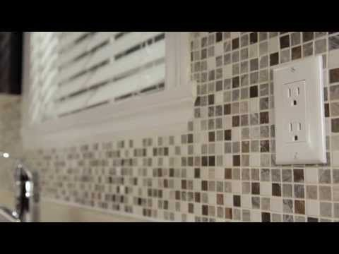 How To Cut Mosaic Tile Sheets Around Outlets Bing Videos