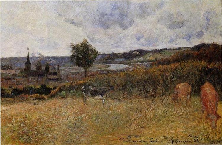 Near Rouen, Paul Gauguin