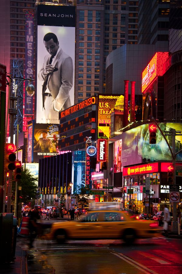Times Square, New York, Look At The Billboard, Diddy Is