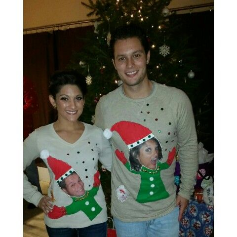 Diy ugly christmas sweater great for couples tis the season diy ugly christmas sweater great for couples solutioingenieria Image collections