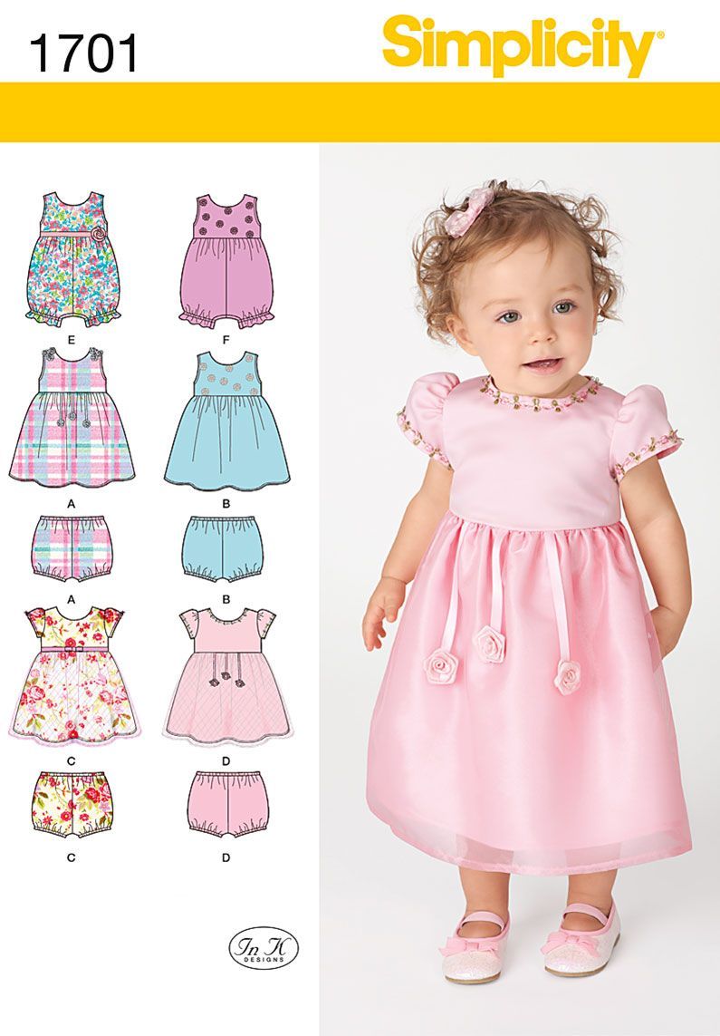 Simplicity 1701 Babies' Dress and Separates | Group, Creative and ...