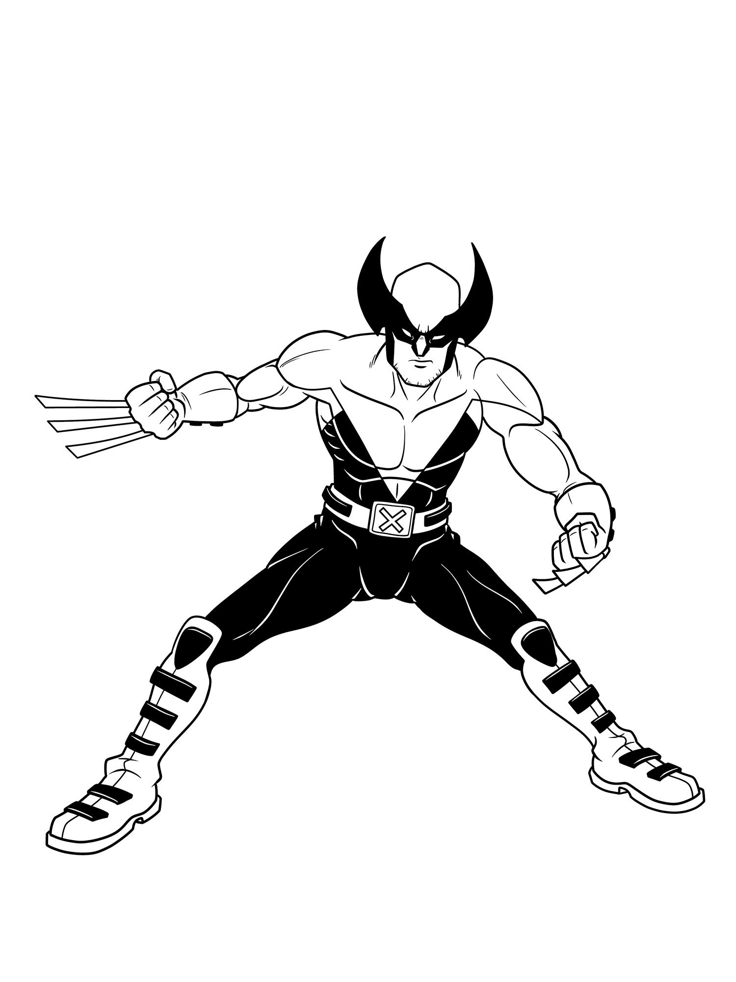 Wolverine From X Men Evolution Comic Book Artists Black And White Artwork Comic Books