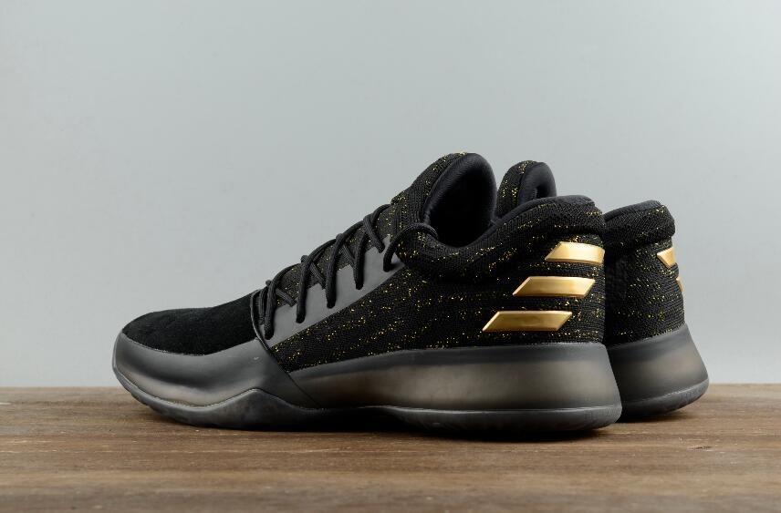 0837639f03d Adidas Harden Vol.1 Black Gold BW0545 Basketball Men Footwear for Sale8