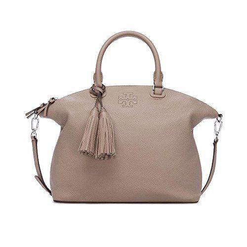 Tory Burch Thea Medium Slouchy Satchel Handbag In French Gray