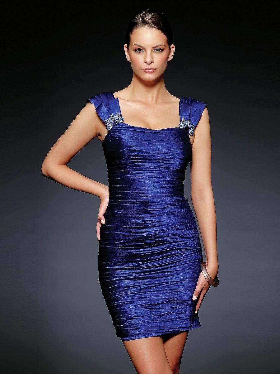 Stretch satin cocktail dresses
