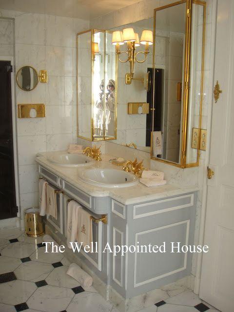 Paris Style Bathroom Decor: Things We Love: Ritz Paris Bathrooms