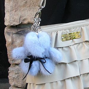 alfurd | Rakuten Global Market: ( fur ) knitted mink fur coat Bolero right glove holders (gloves holder) & bag charms ■