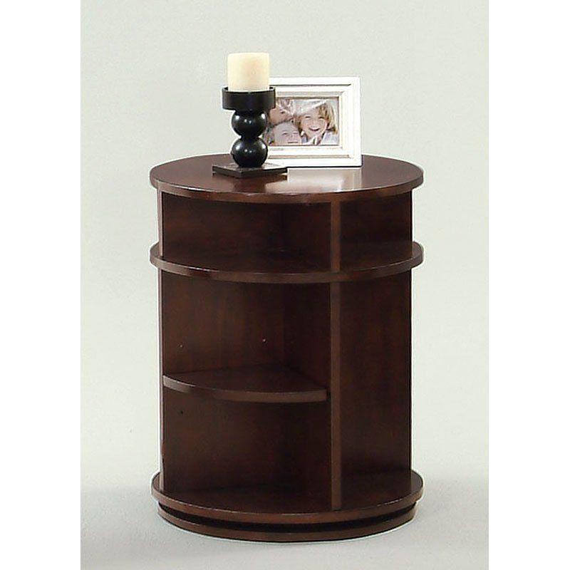 Progressive Furniture Swivel/Chairside Table - Dark Cherry and Birch - P474-29