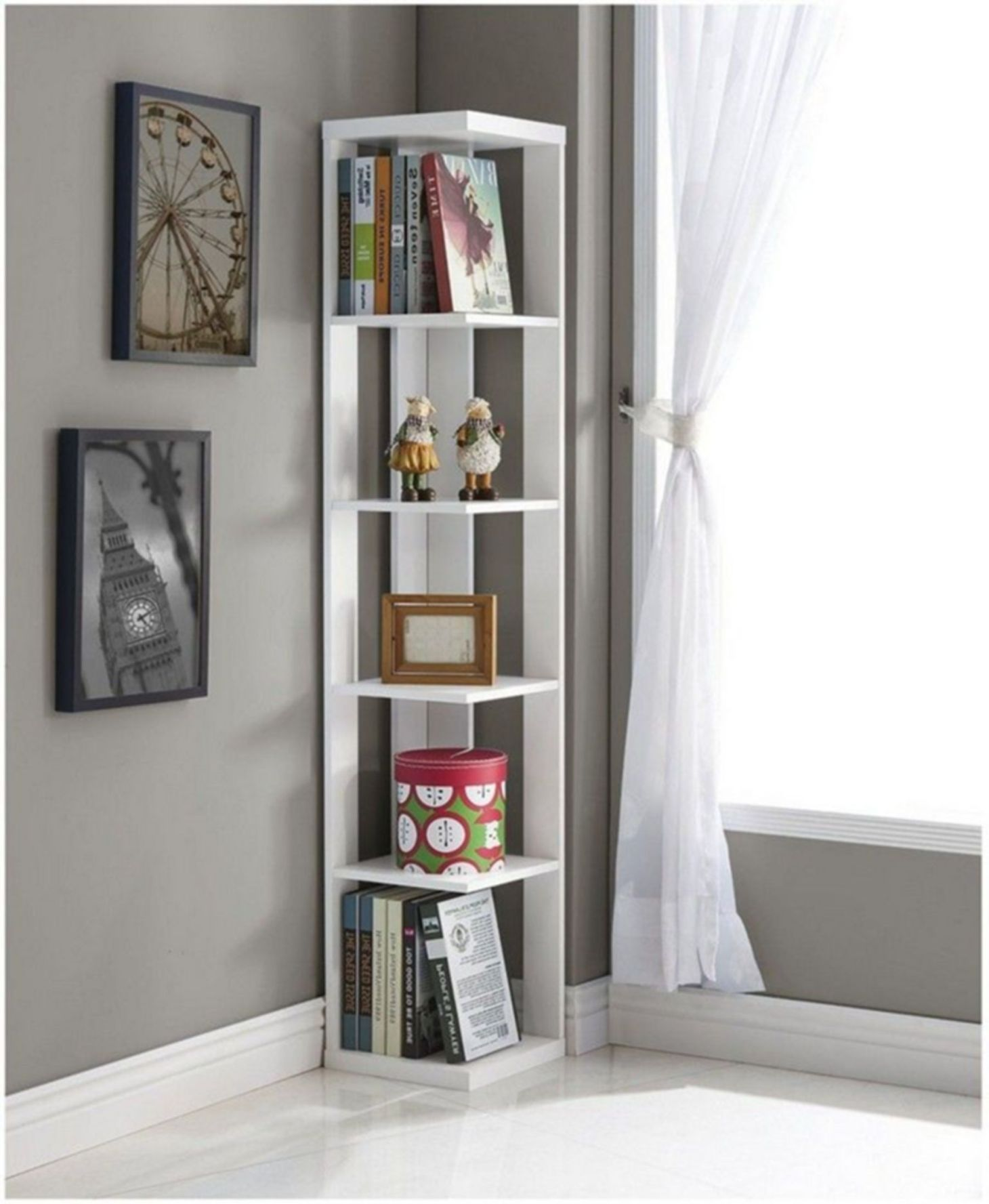 Pretty Corner Shelves Design Ideas With Images Corner Shelves