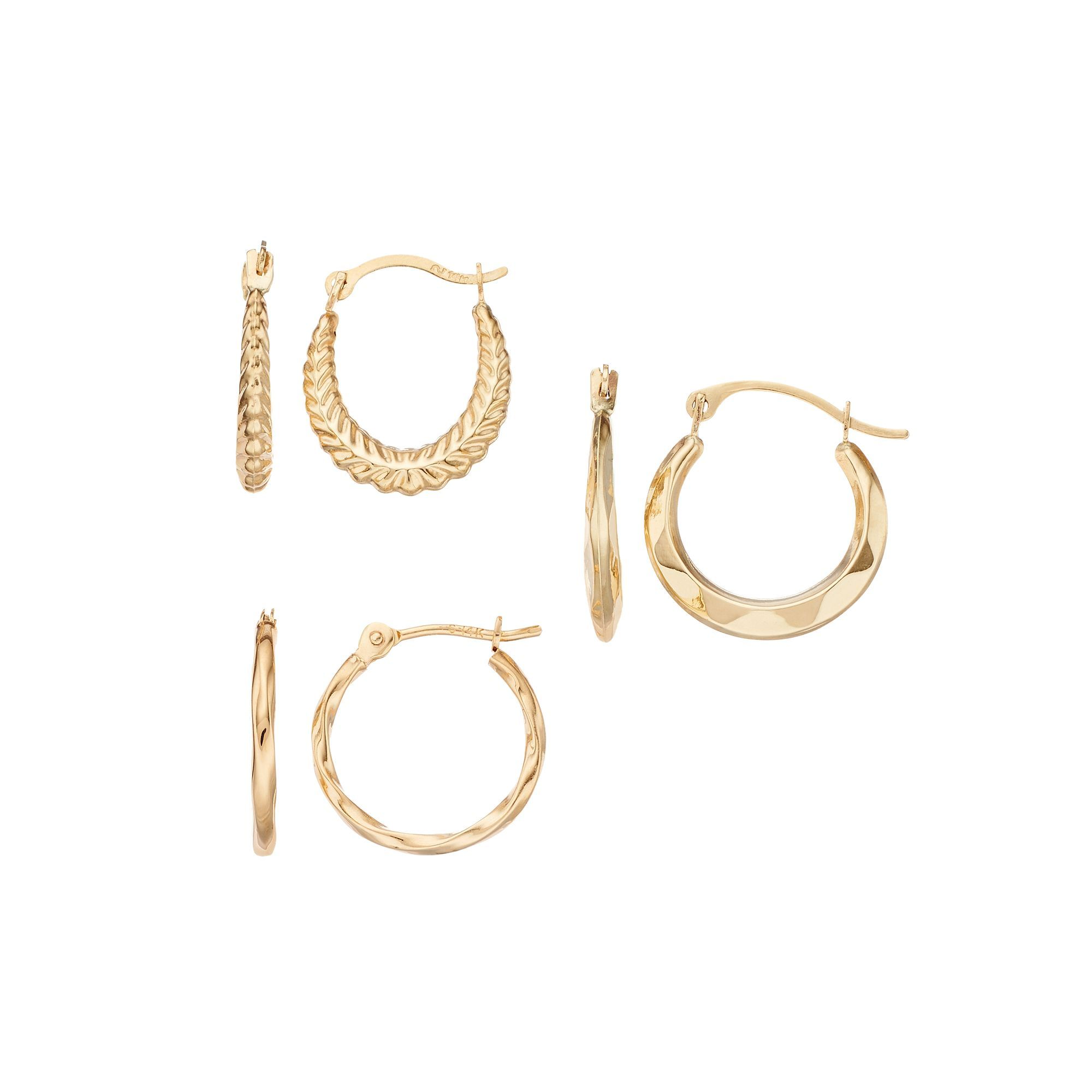 Yellow nose piercing  Kohlus k Gold Hoop Earring Set  Products