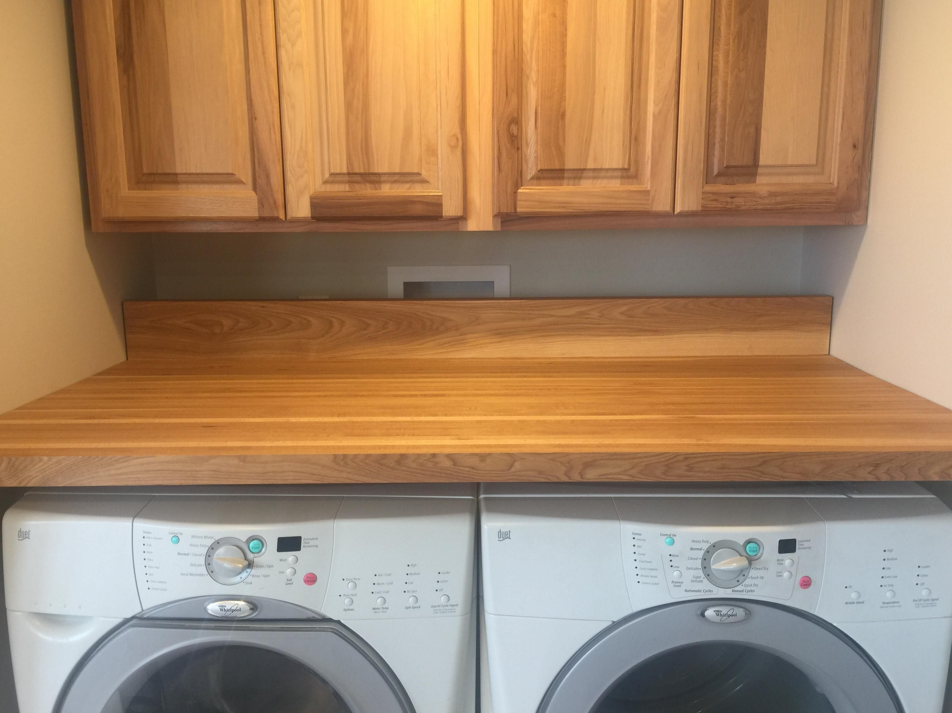 I Built A Floating Countertop For My Washer Dryer Closet Out Of