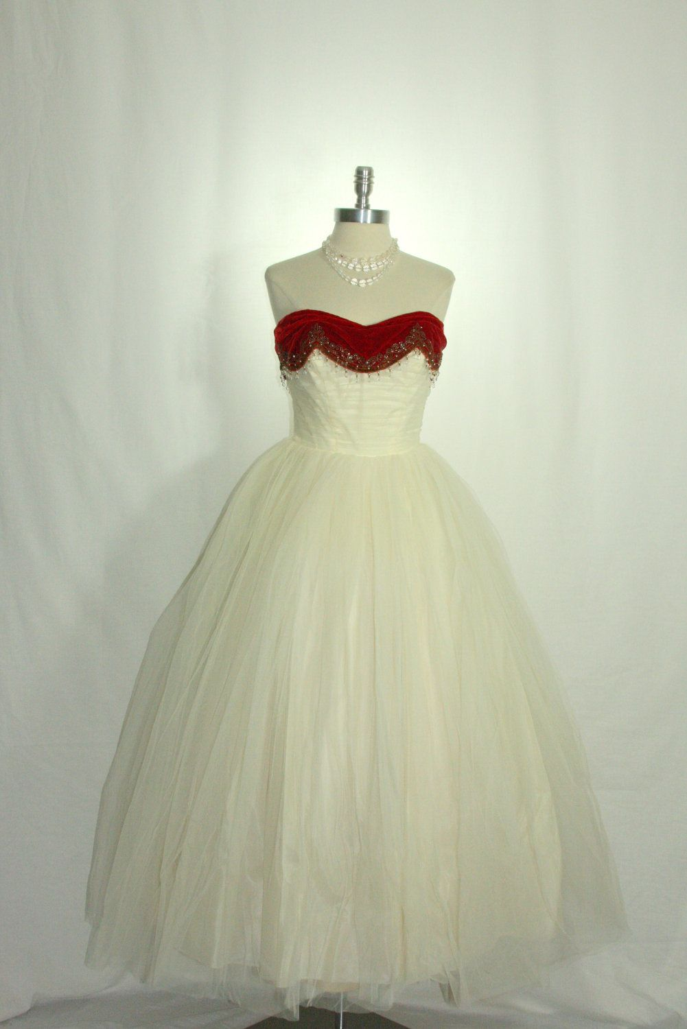Us vintage wedding dress party prom ivory tulle princess dream