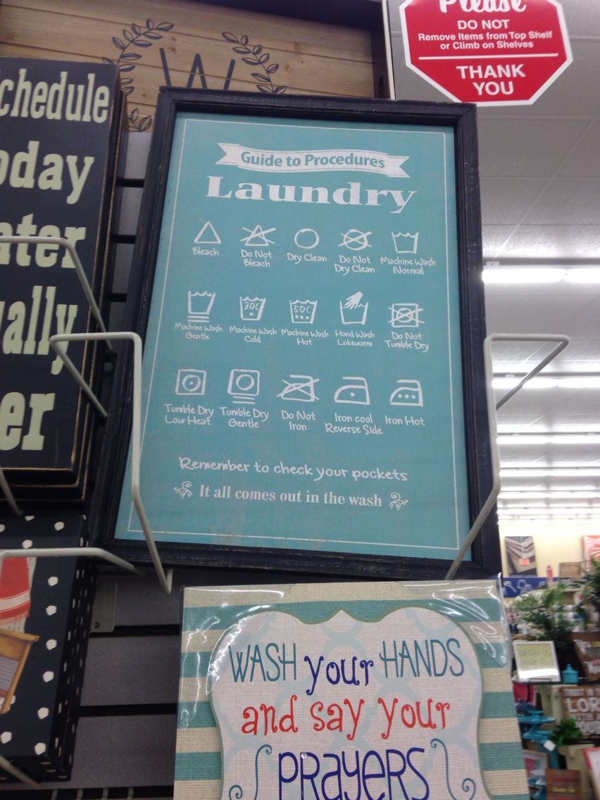 Guide To Laundry Sign Symbols For Washing From Hobby Lobby