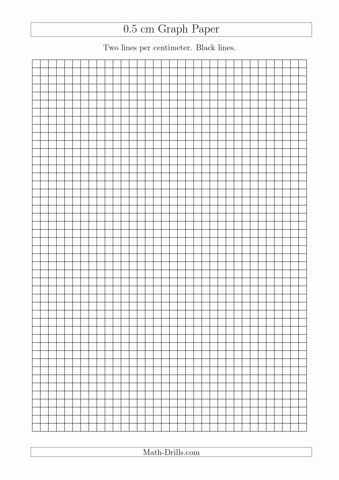 Printable Graph Paper Black Lines Awesome The 0 5 Cm Graph