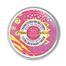 "l""occitane desert rose - my fave body lotion.  I'm so bummed it's only a limited edition, I'm on my last tub!"