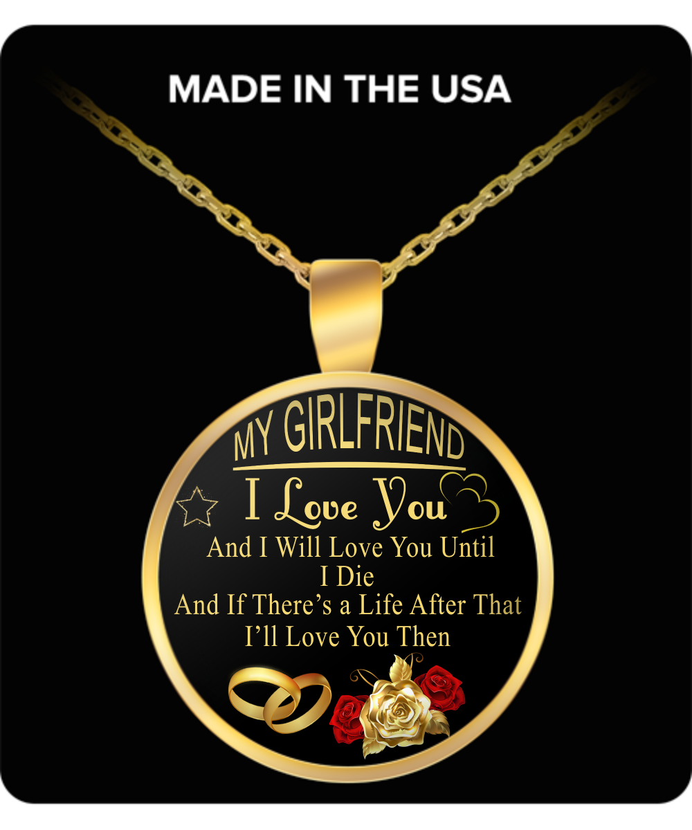 To My Girlfriend Necklace Best Gifts For Birthday