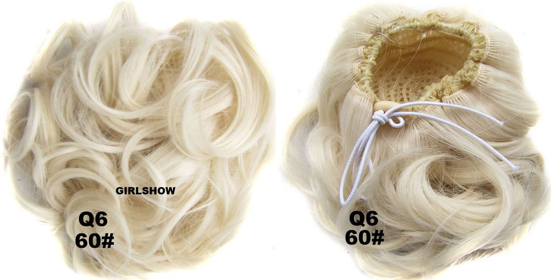 Ladies elaborate curly and short hair buns drawstring synthetic ladies elaborate curly and short hair buns drawstring synthetic hair extension bride scrunchies 27 lady colors and buns pmusecretfo Gallery
