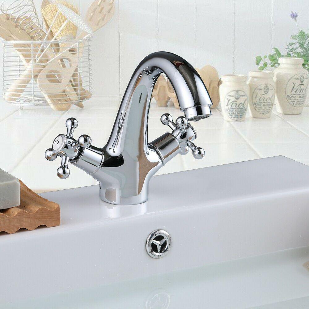 Robinet mitigeur salle de bain cuisine évier rond robinet en laiton mitigeur Tap