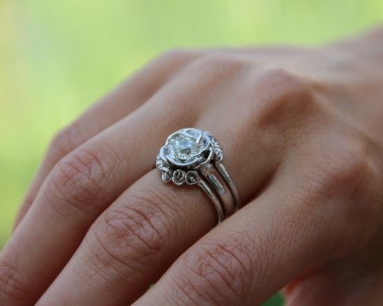 Wexford Jewelers Midsummer Rose ring set. Still the absolute ring i want. It's so expensive but Lawd, it calls to me