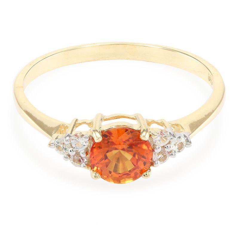 bague or saphir orange